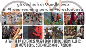 """Rassegna """"gli occhiali Gandhi web"""" in streaming dal 27 Marzo al 10 Aprile"""