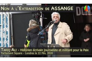 Don't Extradition Assange : Le message de Tariq Ali