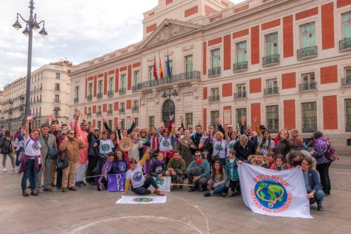 8 Mars : La 2e Marche mondiale pour la Paix et la Nonviolence achève son périple à Madrid