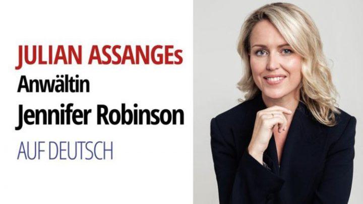 L'avocate d'Assange, Jennifer Robinson, s'exprime sur les dangers d'une extradition de Julian Assange