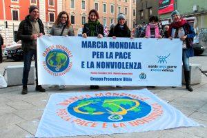 Olbia, la Marcia Mondiale per la Pace e la Nonviolenza non si ferma