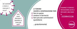 Torino – La cura contro il virus è la solidarietà: parte la spesa per chi deve restare a casa