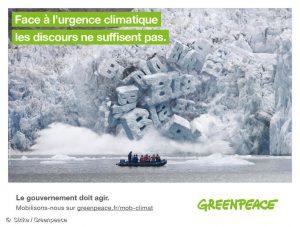 Greenpeace : «stop au blabla des politiques», une campagne censurée