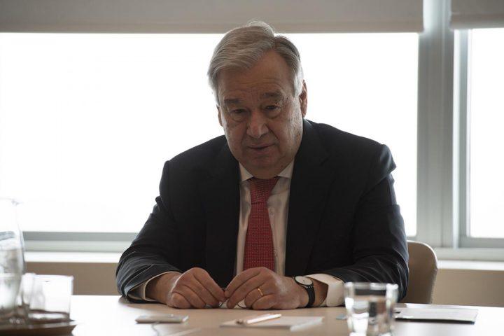 Il Segretario generale dell'ONU Antonio Guterres chiede un cessate il fuoco globale