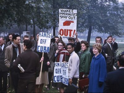 Hyde Park Protesters October 1962 during the Cuban Missile Crisis