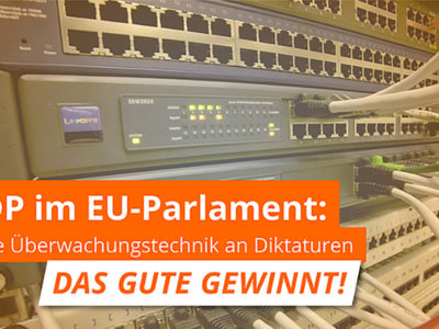 ÖDP im EU-Parlament: Keine Überwachungstechnik an Diktaturen