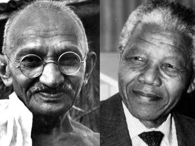 Both Gandhi and Mandela came out of South Africa to make a difference in the world.