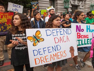 Protestors in San Francisco in 2017 defending DACA.