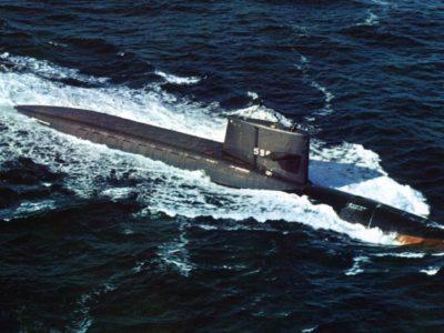The U.S. Navy ballistic missile submarine USS George Washington