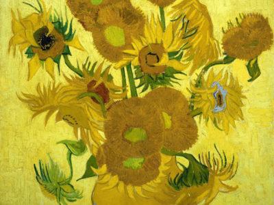 Sunflowers by Vincent van Gogh (Arles series, van Gogh Museum). Wikimedia Commons